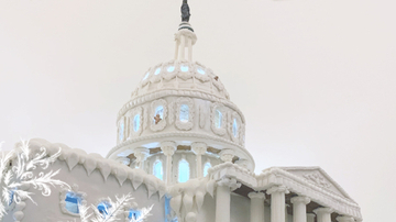 A gingerbread replica of the US Capitol