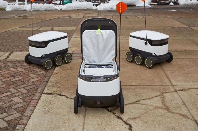robot delivery vehicles