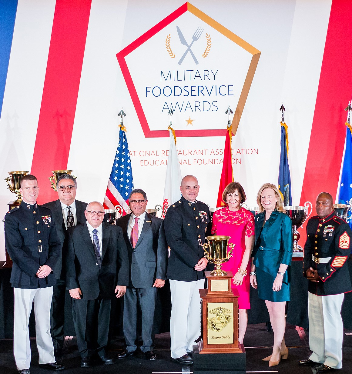 Sodexo's operations at Mess Hall 2204 at Marine Corps Base Camp Pendleton earned the 2019 W.P.T. Hill Memorial Award
