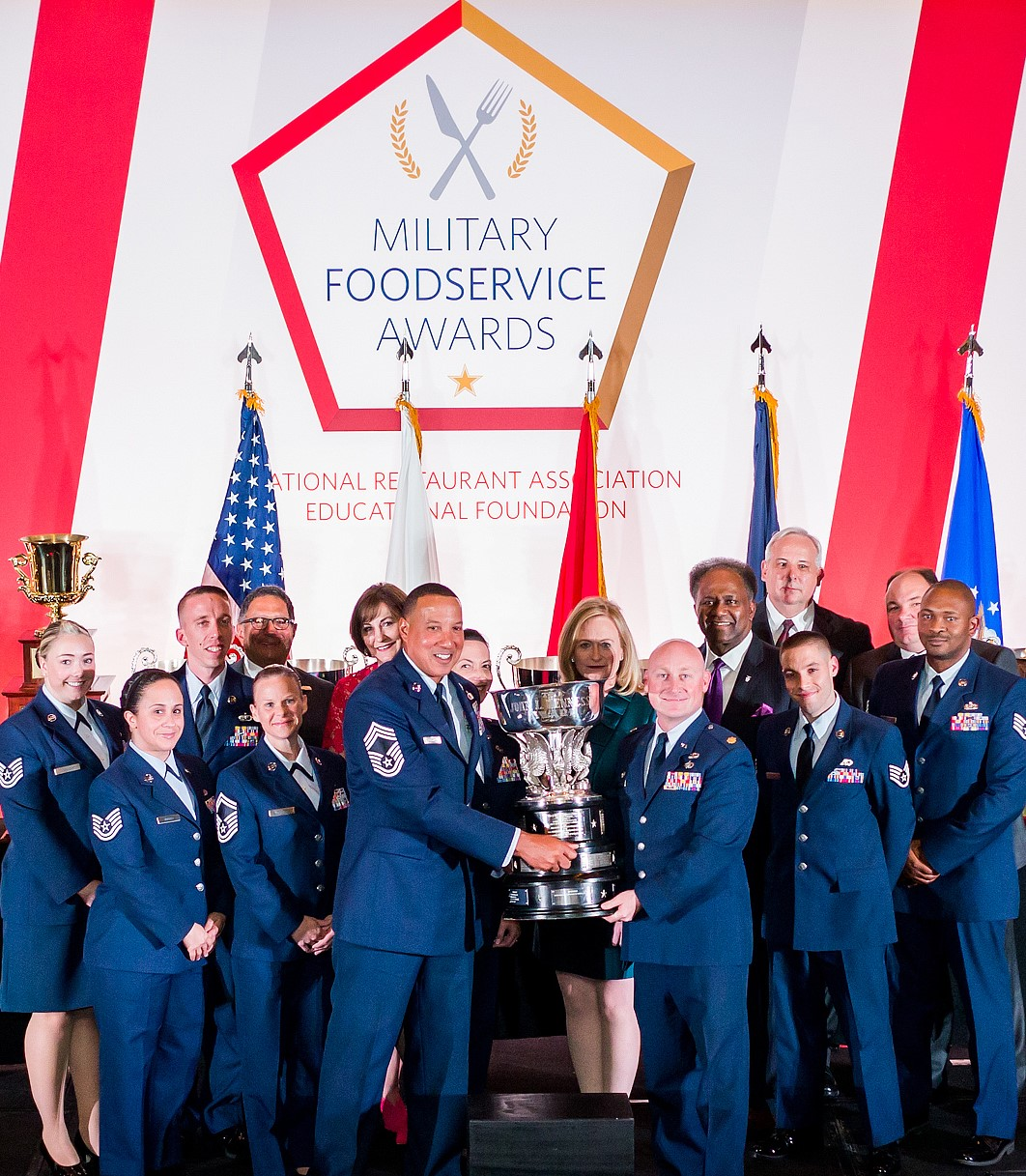 Sodexo's operations at Eglin Air Force Base, 96th Test Wing, AFMC earned the 2019 John L. Hennessy Trophy Award.