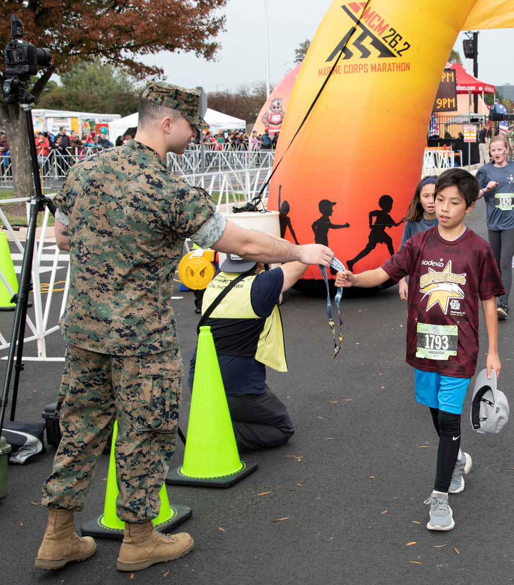 Sodexo has co-sponsored the MCM Kids Run in support of the United States Marine Corps for over 16 years.