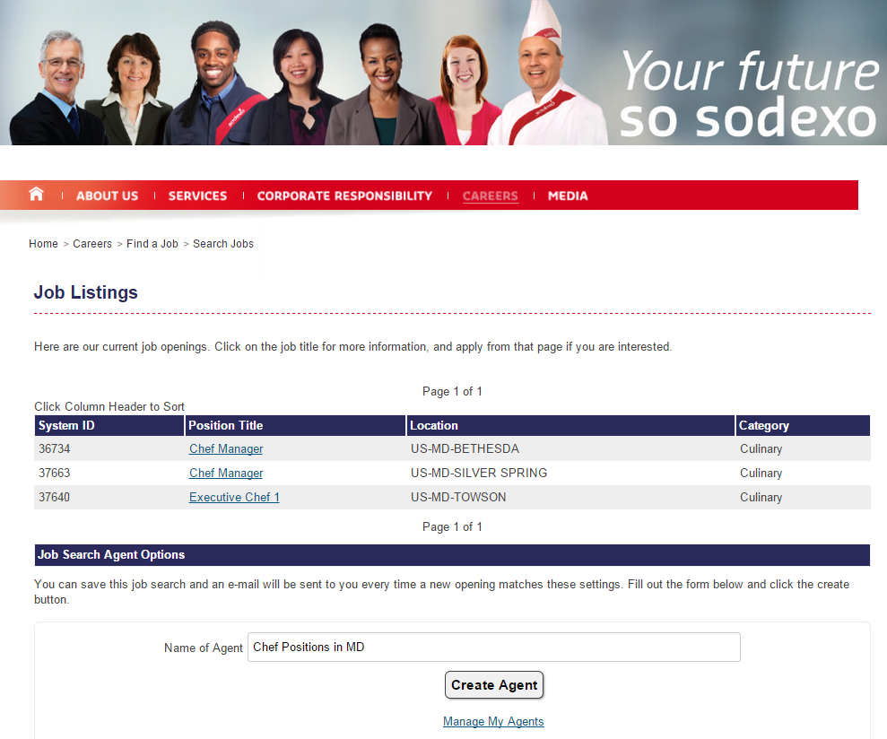 sodexo job search tools job search agent job agent screenshot search jobs