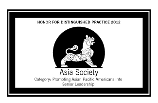 Asia Society Recognizes Sodexo with HONOR for Distinguished Practice as the 2012 Best Company in Promoting Asian Pacific Americans into Senior Leadership