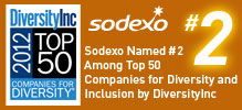 Sodexo Ranked #2 on the DiversityInc Top 50 Companies for Diversity List for Second Consecutive Year